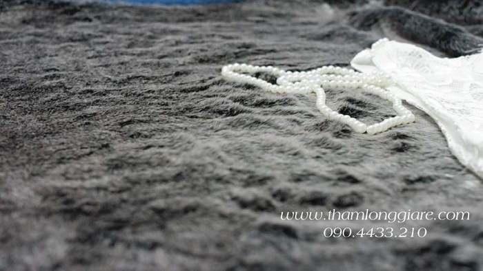 Thảm lông ngắn màu xám 1mx1,6m