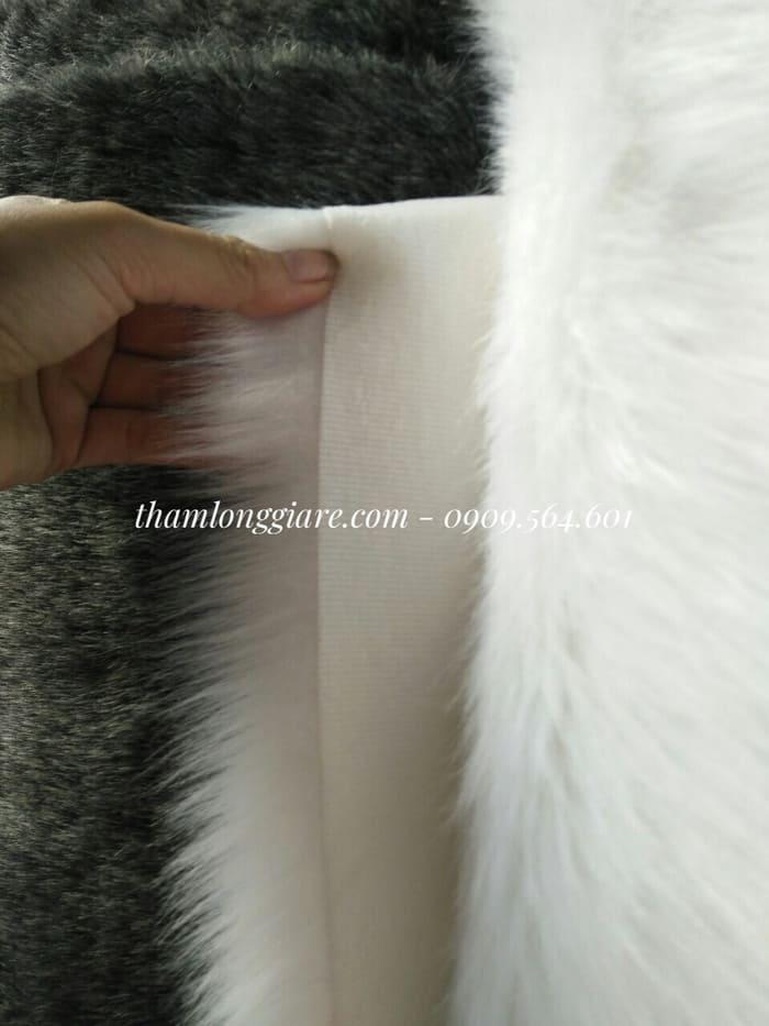 Thảm lông ngắn màu trắng 1m*1,6m- Lông thú cao cấp chuyên trong chụp ảnh, trang trí