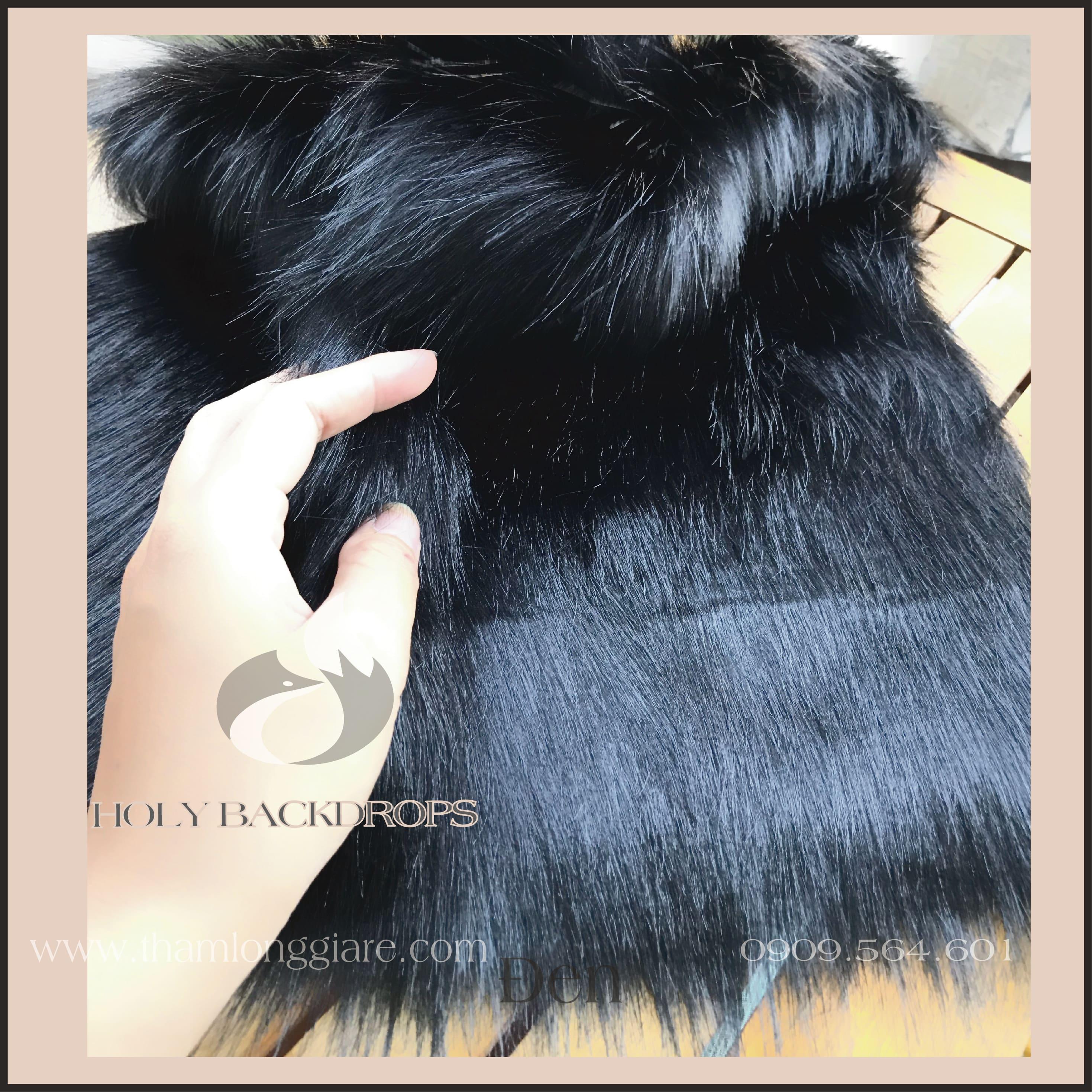Thảm lông dài màu đen - Lông dài mịn cao cấp chuyên trong chụp ảnh trang trí không gian
