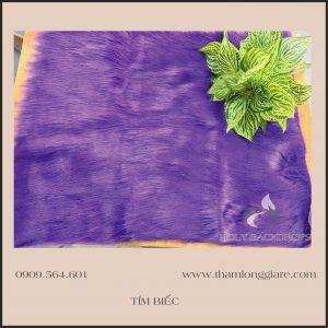 Thảm lông dài màu tím biếc - Lông thú hồ ly chuyên trong chụp ảnh, trang trí