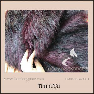 Thảm lông dài màu tím rượu - Ảnh thật 100% chất lông dày dặn chuyên trong chụp ảnh, trang trí