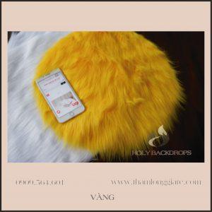 Thảm lông  dài màu vàng - Lông thú hồ ly cao cấp chuyên trong chụp ảnh, trang trí