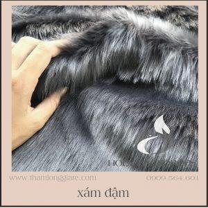 Thảm lông dài màu xám đen - Lông dài siêu mịn