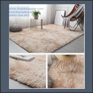 Thảm lông trải sàn màu be loang nền dày sang trọng 2*1.6m