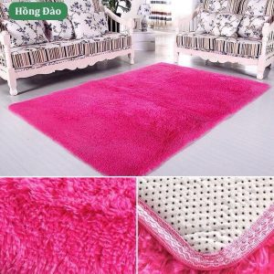 Thảm trải sàn lông mềm màu hồng 2m*1.6m chuyên dùng phòng ngủ, phòng khách, tự chọn size